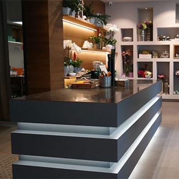 Bancone per negozio di piante e fiori