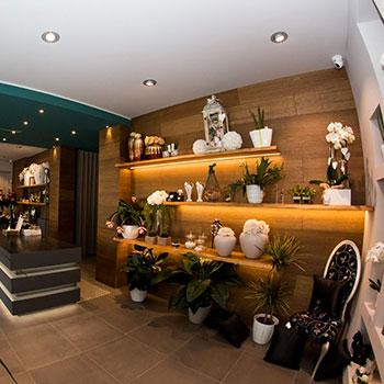 Arredamento per negozio di piante e fiori